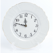 часы кругл BernadotteБелый узор 27см 06832
