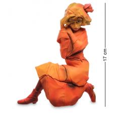 """стат-ка """"Женщина в красно-оранжевом платье"""" SCH02"""