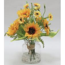 """декор.цветы """"Букет"""" в стекл вазе"""