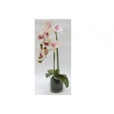 """декор.цветы """"Орхидея св розовая"""" в стекл вазе"""